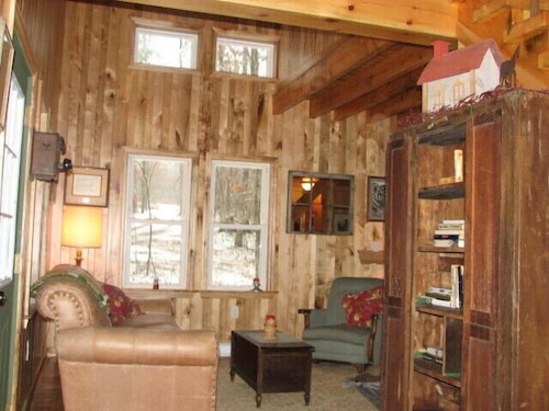 Living Room, Timber Frame Cabin Located Nextt to the Clarion River & North Country Trail
