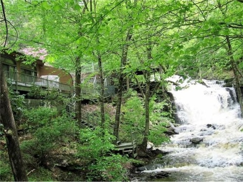 Check Expedia for Availability of Unique Octagon- Shaped House On A Waterfall - Oak Ridge Falls!