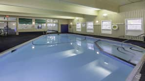 2 indoor pools, 2 outdoor pools, open 8:00 AM to 10:00 PM, sun loungers