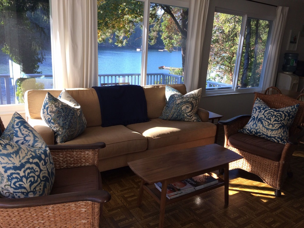 Living Room, Book Your Waterfront Staycation!