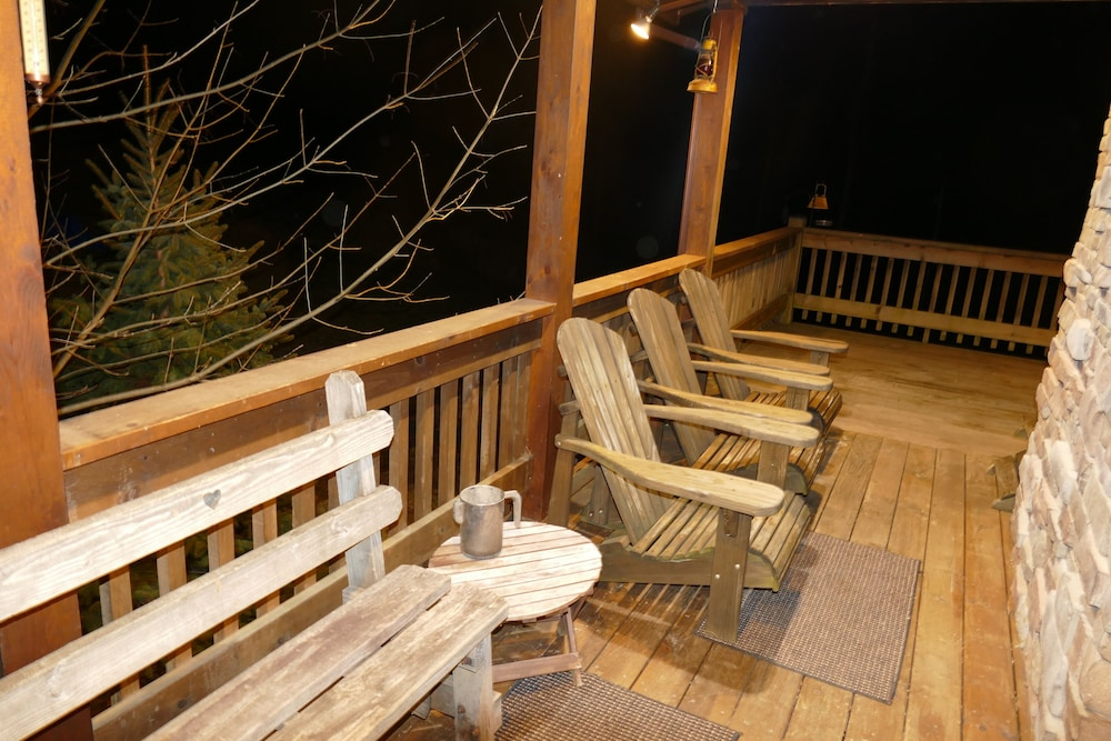 Terrace/Patio, Kendall Retreat - 3BR Log Cabin Central to Deep Creek Lake and Nemacolin Resorts