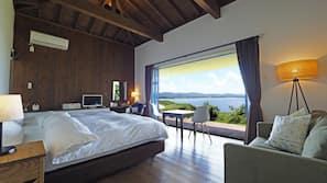 1 間臥室、書桌、手提電腦工作空間、窗簾
