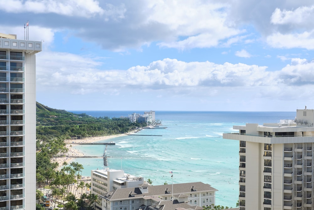 View from Room, Waikiki Beachcomber by Outrigger