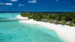 On the beach, beach massages, scuba diving, snorkelling