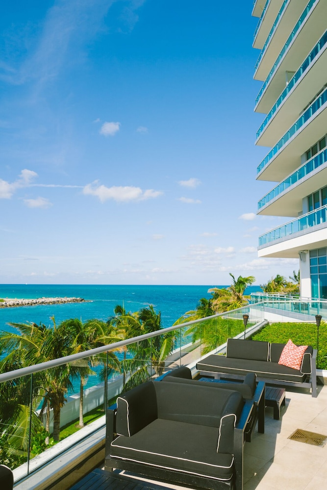 Balcony, Spectacular Private Studio at 5 Star Hotel Bal Harbour North Miami Beach