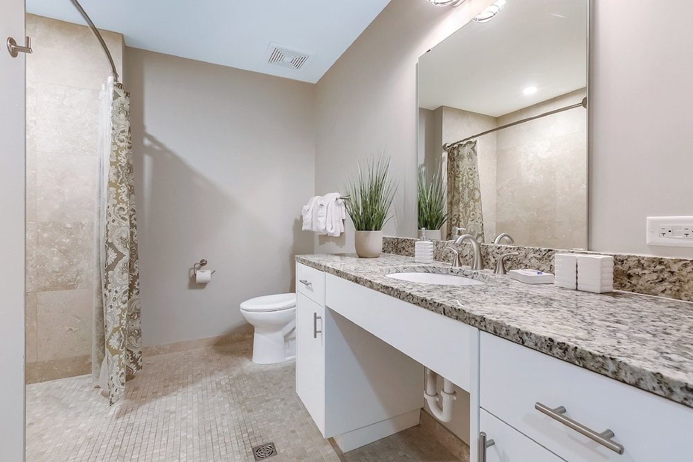 Bathroom, Luxury Condos in California Building by Hosteeva