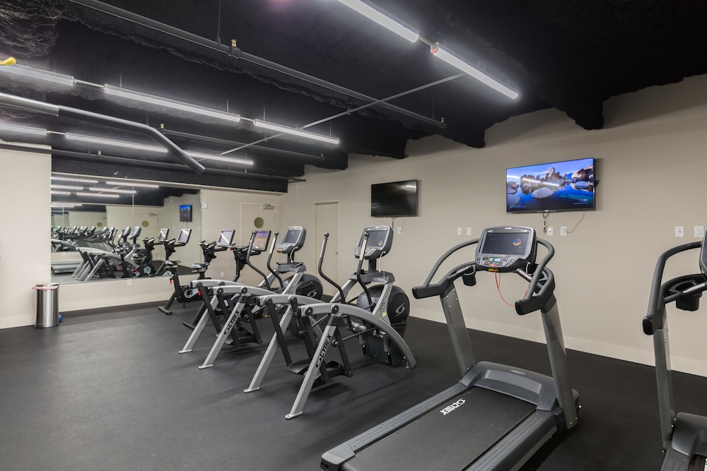 Fitness Facility, Luxury Condos in California Building by Hosteeva