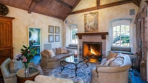 Smart TV, fireplace, foosball, offices