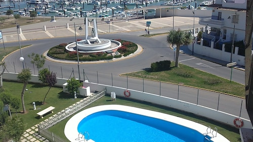 Apartment- Chipiona, Garage, Pool Near THE Town Center AND Beach, Internet, Satellite TV