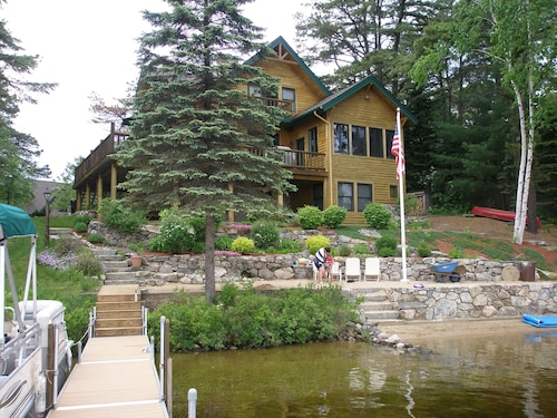 Great Place to stay Custom Ossipee Lake LOG Lake House With Beautiful Sand Beach AND Views! near Freedom