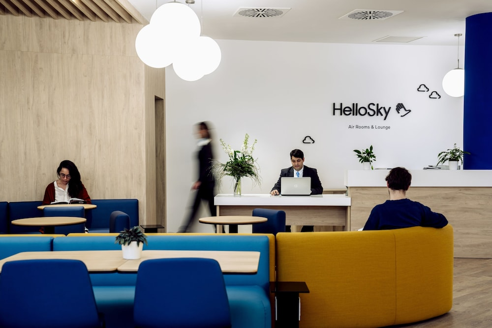Interior Entrance, Air Rooms Rome Airport by HelloSky