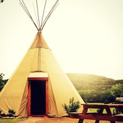 Reservation on the Guadalupe- Tipi #6 Sitting Bull 1 Bedroom 1 Bathroom Cabin by Redawning