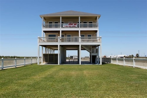 Great Place to stay Moby Deck - Big Beachfront With Game Room, Double Decks, Sleeps 32! near Crystal Beach