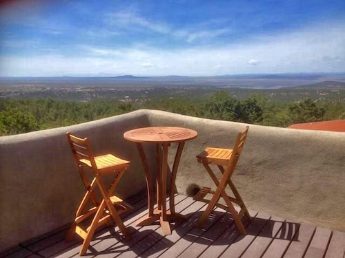 Terrace/Patio, Coyote Mountain Cabin Retreat, Serene Exclusive Privacy in the Tall Pines