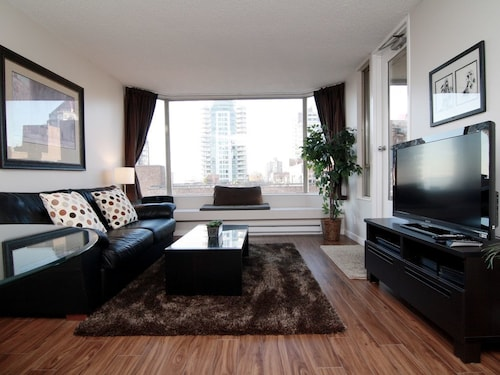 Check Expedia for Availability of Downtown Vancouver 1 Bedroom Executive Condo With Views to English Bay