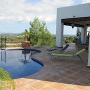 Villa With an Ibiza Style and a View of a 27-hole Golf Course and the Coast