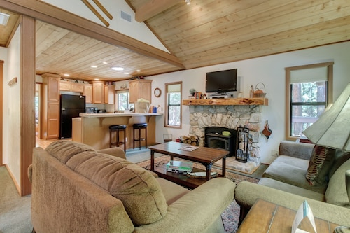 Check Expedia for Availability of Charming & Elegant log Cabin Right on Strawberry Creek - 1 dog Welcome!