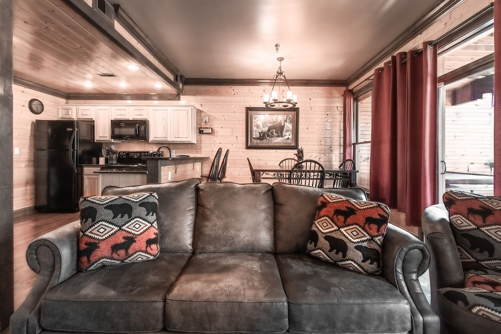 Living Room, Unit 462 is a True Rustic Family Condo/cabin With Washer and Dryer