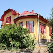 Romantic Art Nouveau Villa Directly on Lake Balaton