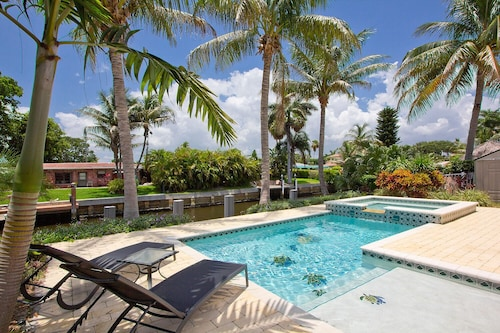Great Place to stay Contemporary Waterfront Retreat - Waterfront Pool Home w/ Dock Near Beach near Deerfield Beach