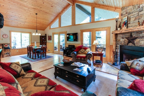 Check Expedia for Availability of Amazing Two-story Lodge w/ hot tub & Firepit - Secluded, Three Miles From Town!