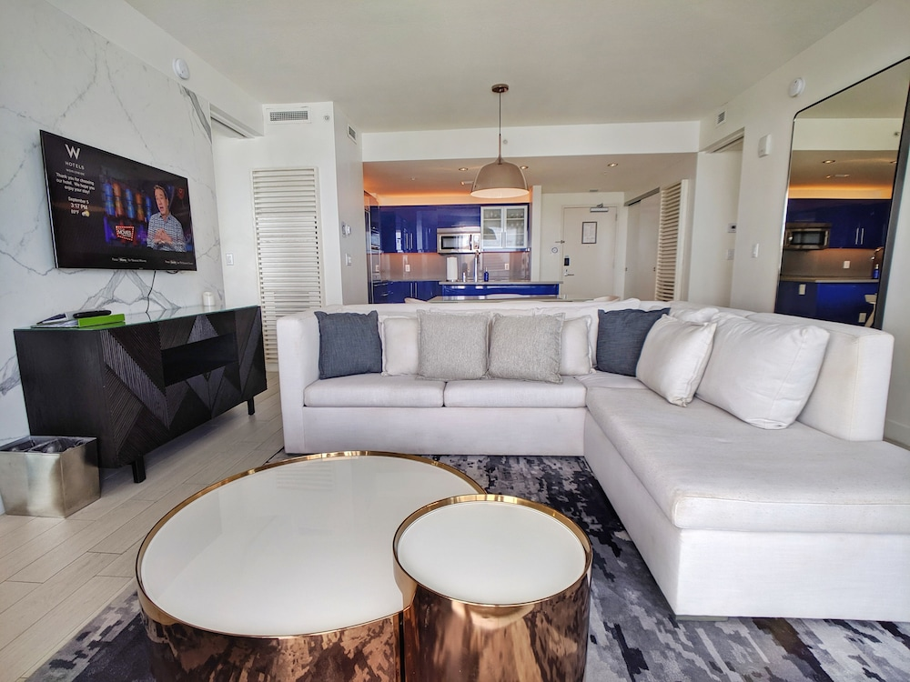 Living Room, Modern Luxury Beachfront Hotel 2 Bedroom With Great Views and 3 Balconies 18
