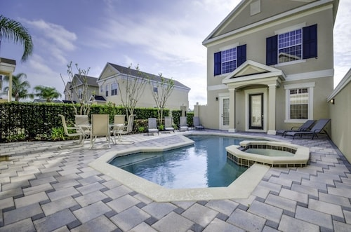 Luxury Villa 6BR Private Courtyard Pool/spa, Reunion On Palmer Golf Course Game Room 8 Miles to Disney