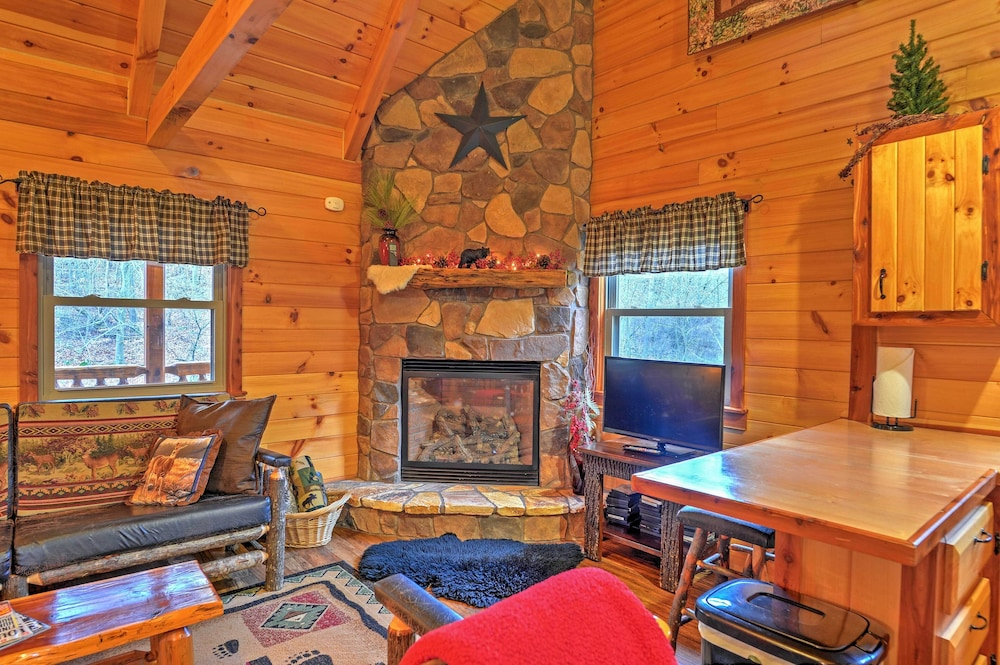 Amazing Rustic Dundee Cabin W Hot Tub Forest Views New Interior Design Ideas Skatsoteloinfo