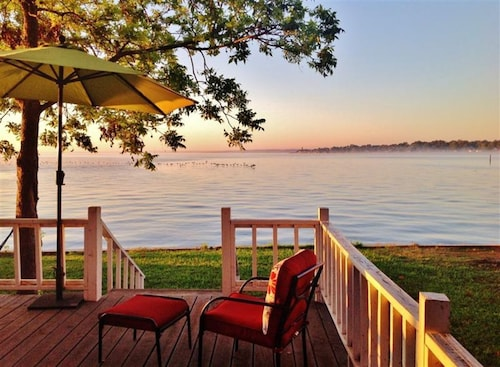 Check Expedia for Availability of Serene 2BR Point Blank Cabin W/lake Views!