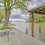 New! 3BR Indian Lake Home w/ Back Patio & Dock!