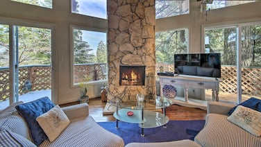 Cabin W/mtn Views, 2 Mi. to Town & Lake Arrowhead!