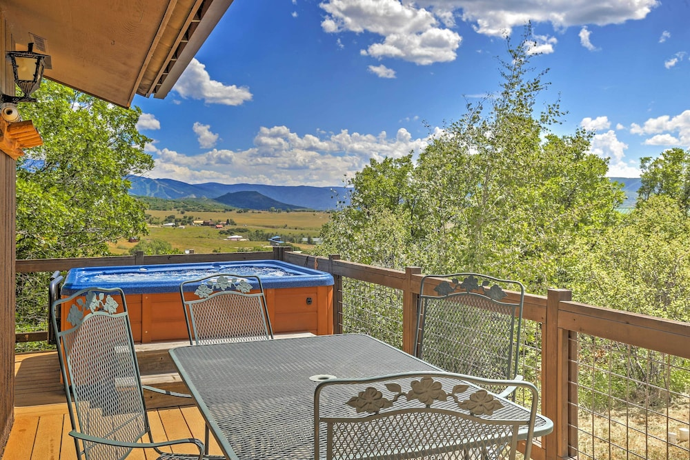 Balcony, Private Steamboat Springs Home W/hot Tub+mtn Views