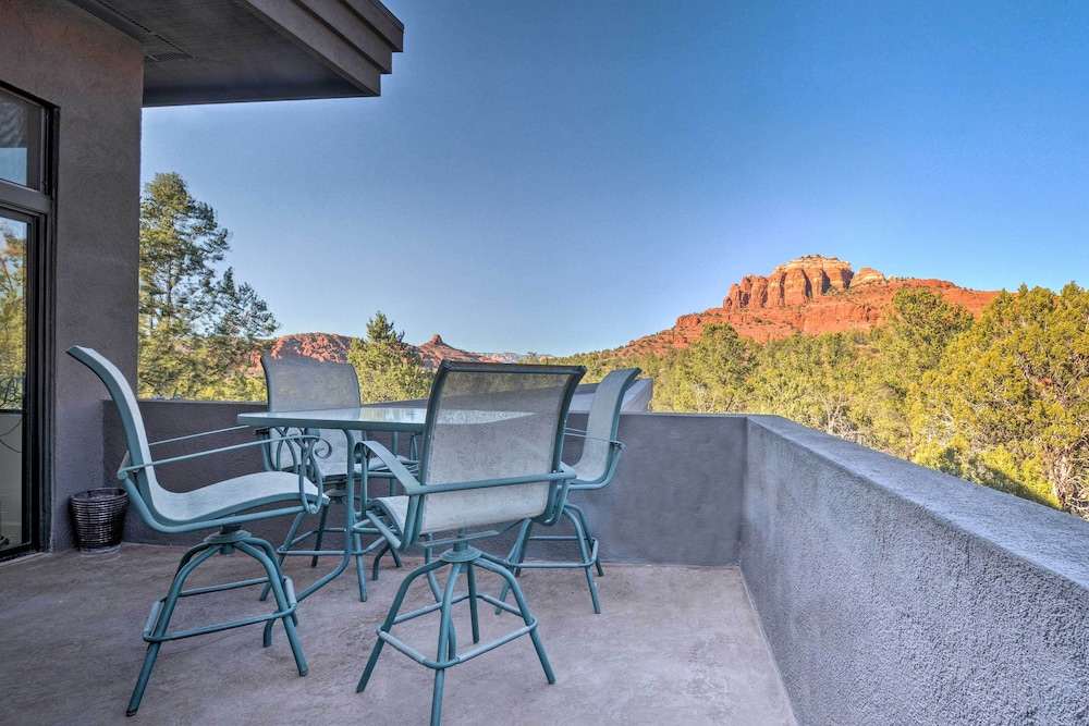 Terrace/Patio, 2-acre Sedona Casita w/ Deck & Red Rock Views!