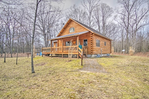 New! Remote 1BR Pentwater Cabin w/ Views & Privacy
