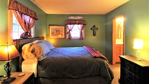 3 bedrooms, iron/ironing board, bed sheets