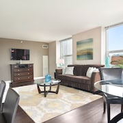 Dog-friendly Suite w/ Balcony, Shared Pool, Fitness Center, & Skyline Views!