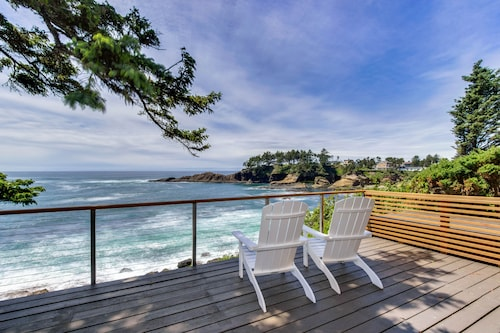 Check Expedia for Availability of Dog-friendly Oceanfront Home w/ Coastal Views, a Telescope, Walk Everywhere