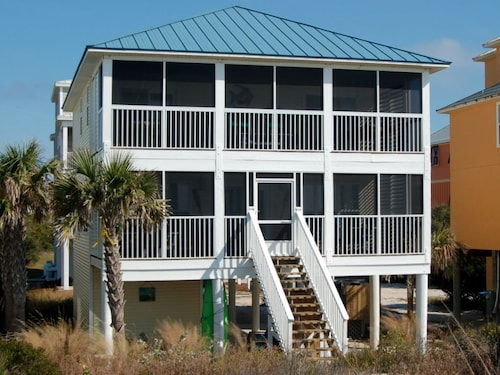 Enjoy Incredible Views of the Gulf of Mexico From This Beautiful Updated Beachfront Home