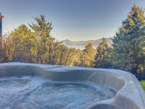 Check Expedia for Availability of Stone Craftsman-style House w/ Partial Ocean View & hot tub -2 Dogs ok!