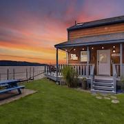 Free Nights! Beachfront Cabin+guest Boathouse +2 Kayaks