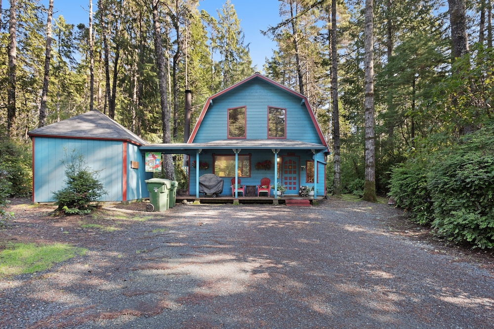 Exterior, Updated, Dog-friendly Cabin in a Secluded Area - Minutes From Beach & Town!