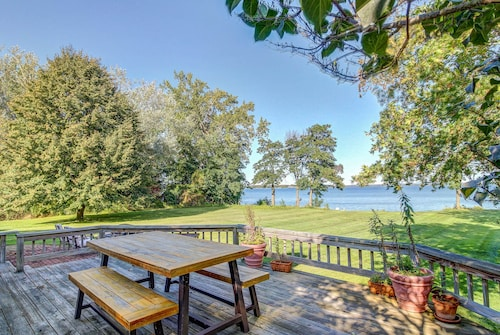 Check Expedia for Availability of Sunny, Lakefront Property W/spacious Yard, Vintage Charm, Easy State Park Access