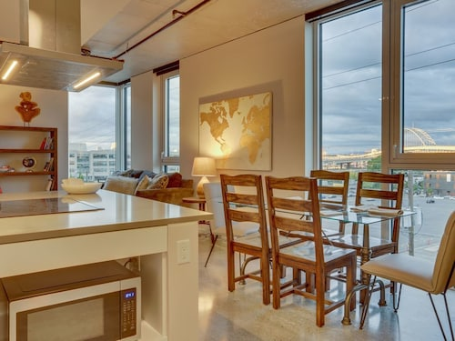 Great Place to stay Two Sleek Condos w/ Shared Rooftop Garden & Stunning Views, Great for Groups! near Portland