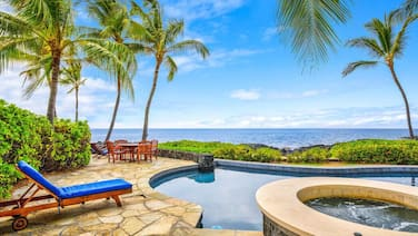 Oceanfront Home Gated Kona Bay Estates AC in Bedrooms