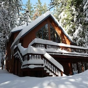 High Sierra Chalet: 3 Bedroom 2 Bath BIG Trees Village Cabin Close TO Hiking, Biking, AND Swimming. PET Friendly