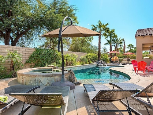 Great Place to stay Tuscan Sun-5br, Casita, Pool, Spa, Walk to Fest, Foosball, Poker, Outdoor Kitchen near Indio