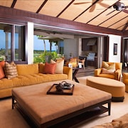Luxury Villa AT Four Seasons Hualalai Resort - 3 Bedrooms, 3.5 Bath and 4 Seater Golf Cart