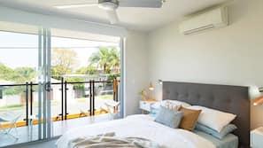 3 bedrooms, premium bedding, down duvet, iron/ironing board