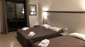 Premium bedding, desk, blackout curtains, rollaway beds