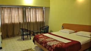 Premium bedding, desk, free wired internet